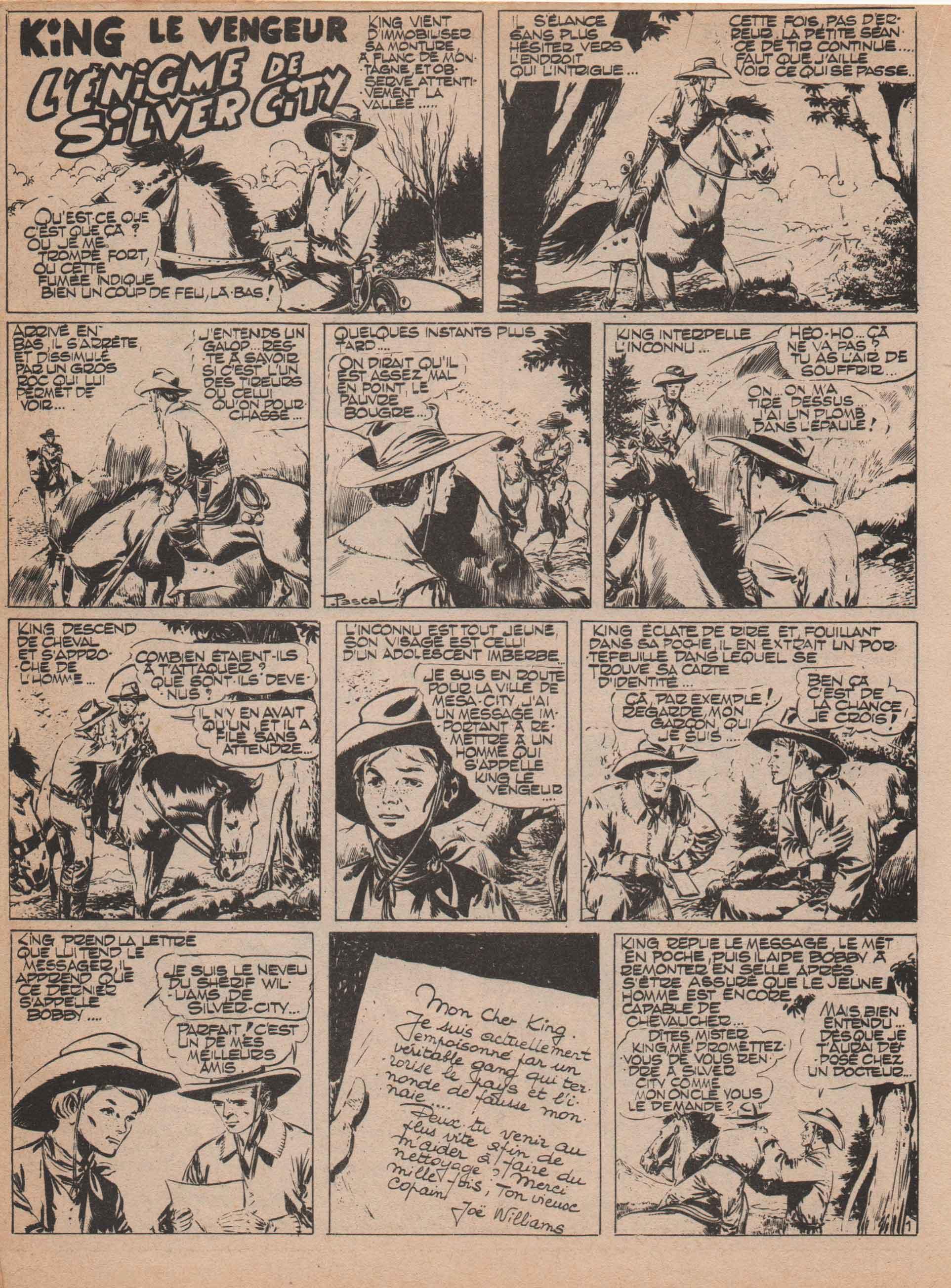 « King le vengeur » Audax n° 41 (mars 1956).