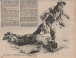 Illustration pour « Les Rescapés du Rio Grande » Vaillant n° 516 (03/01/1955).