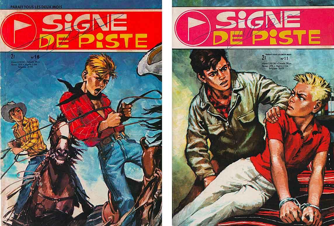 Couvertures Signe de Piste n° 11 et 16 par Pierre Joubert.