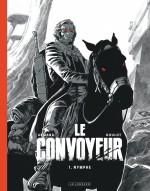 Couverture pour l'édition en noir et blanc (64 p., 29 €) et planche n° 3 (Lombard 2020)