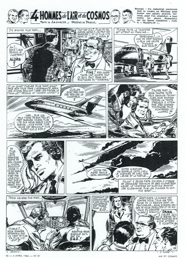 « 4 hommes de l'air et du cosmos » Air et cosmos (1963).