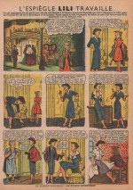 «Lili travaille»Fillette n°290 (07/02/1952).