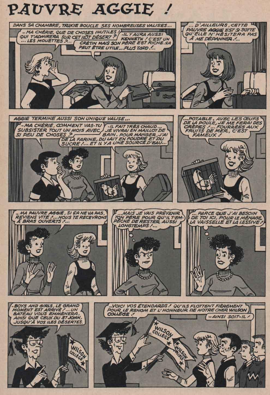 «Aggie et l'opération survie» page8 et dernière d'Al.G.15ans n°52 (05/1973).