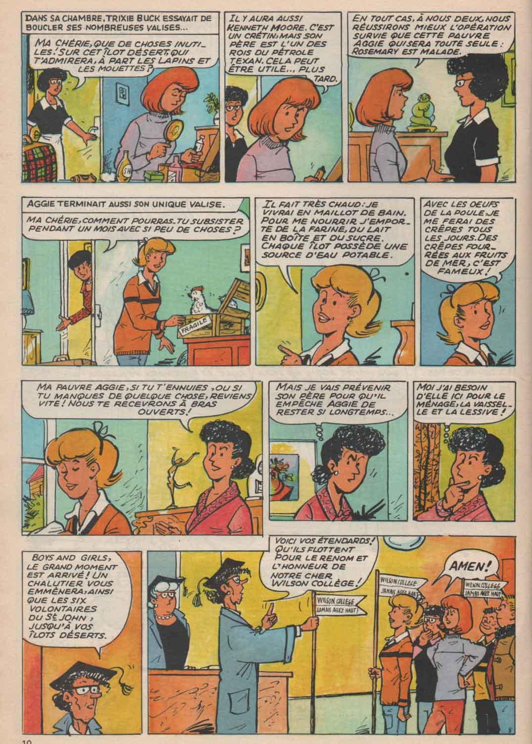 «Aggie et l'opération survie»: même page reprise par Pierre Lacroix (1979).