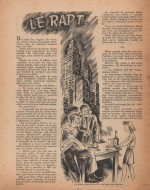 Illustration nouvelle « Le Rapt » Fillette n° 86 (04/03/1948).