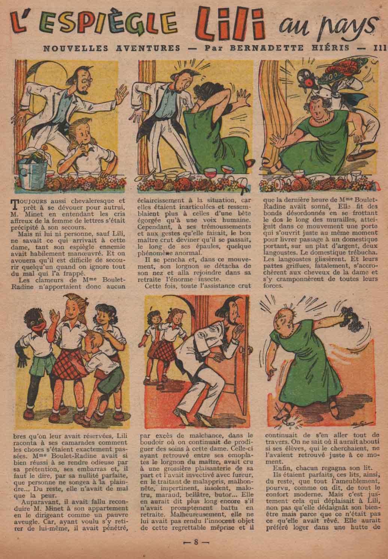 «Lili au pays des lions»Fillette n°232 (28/12/1950).