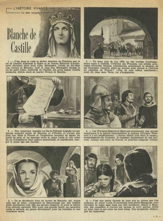 « Blanche de Castille » bonnes Soirées n° 1682 (02/05/1954).