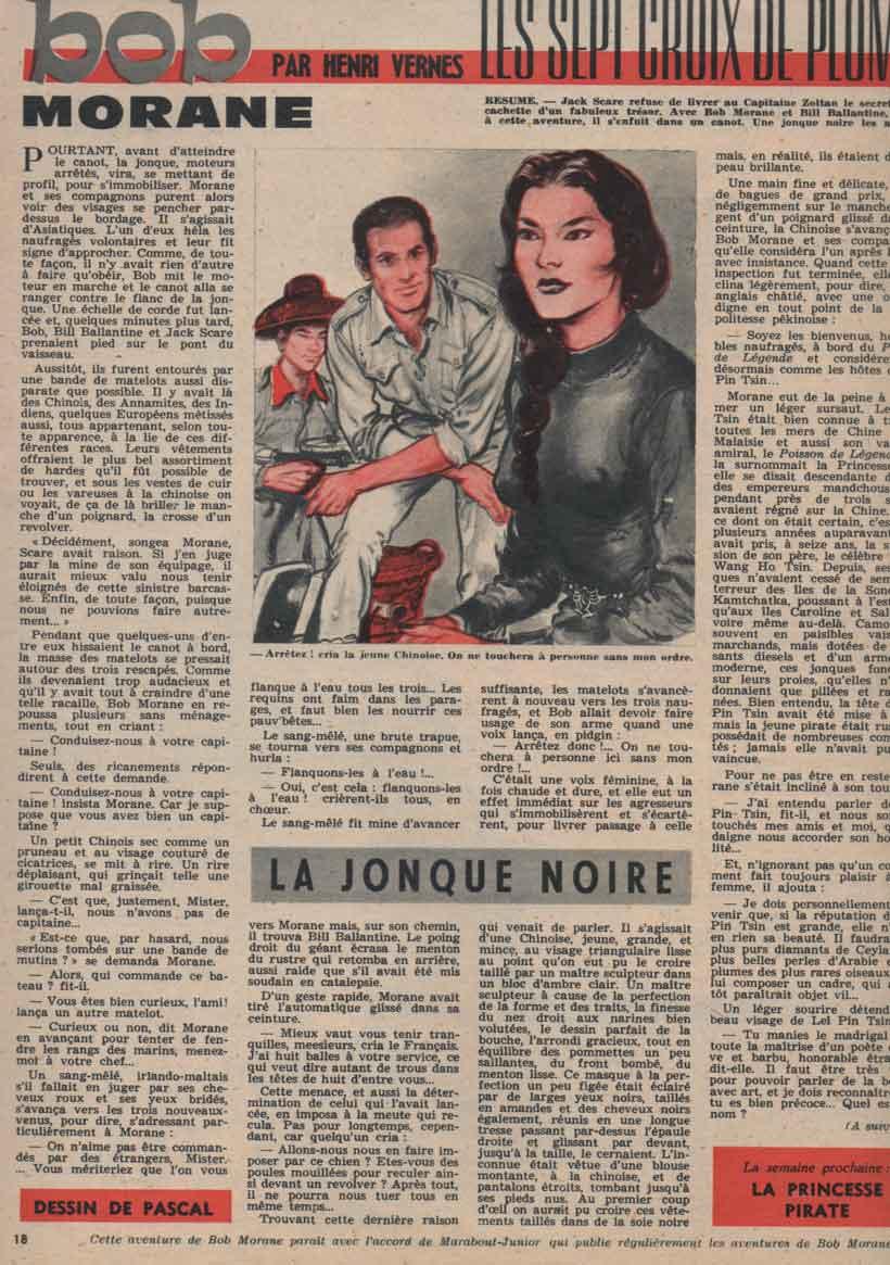Illustration « Bob Morane » Pilote n° 170 (24/01/1963).