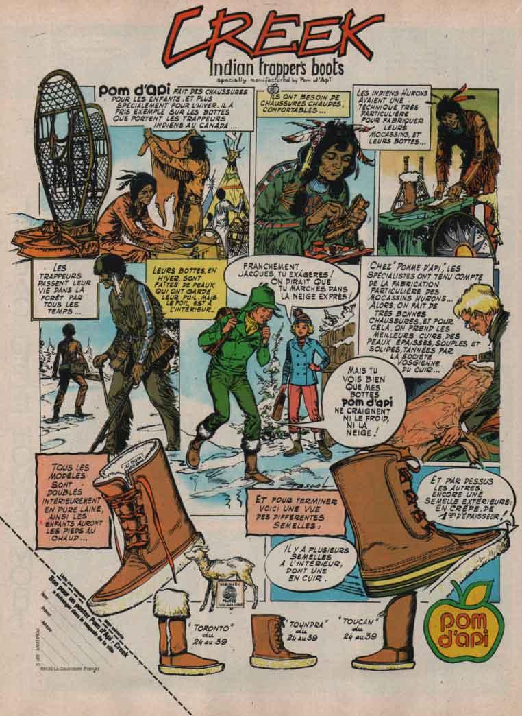 Publicité Creek Spirou n° 2060 (06/10/1977).