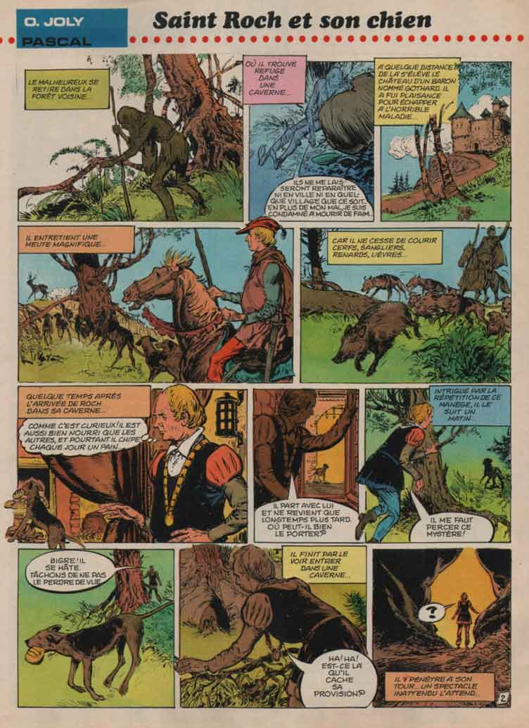 « Saint-Roch et son chien » Spirou n° 2145 (24/05/1979).