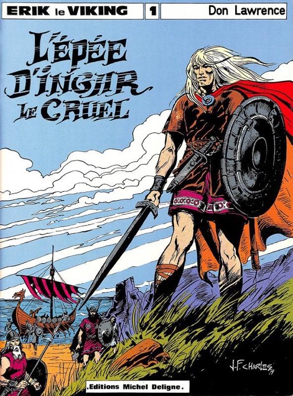 Couverture de «L'Épée d'Ingar le cruel» (album Michel Deligne n° 1, publié en 1979) par Jean-François Charles.