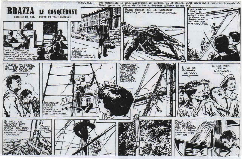 « Brazza l'Africain » L'Intrépide n° 25 (25/05/1949).