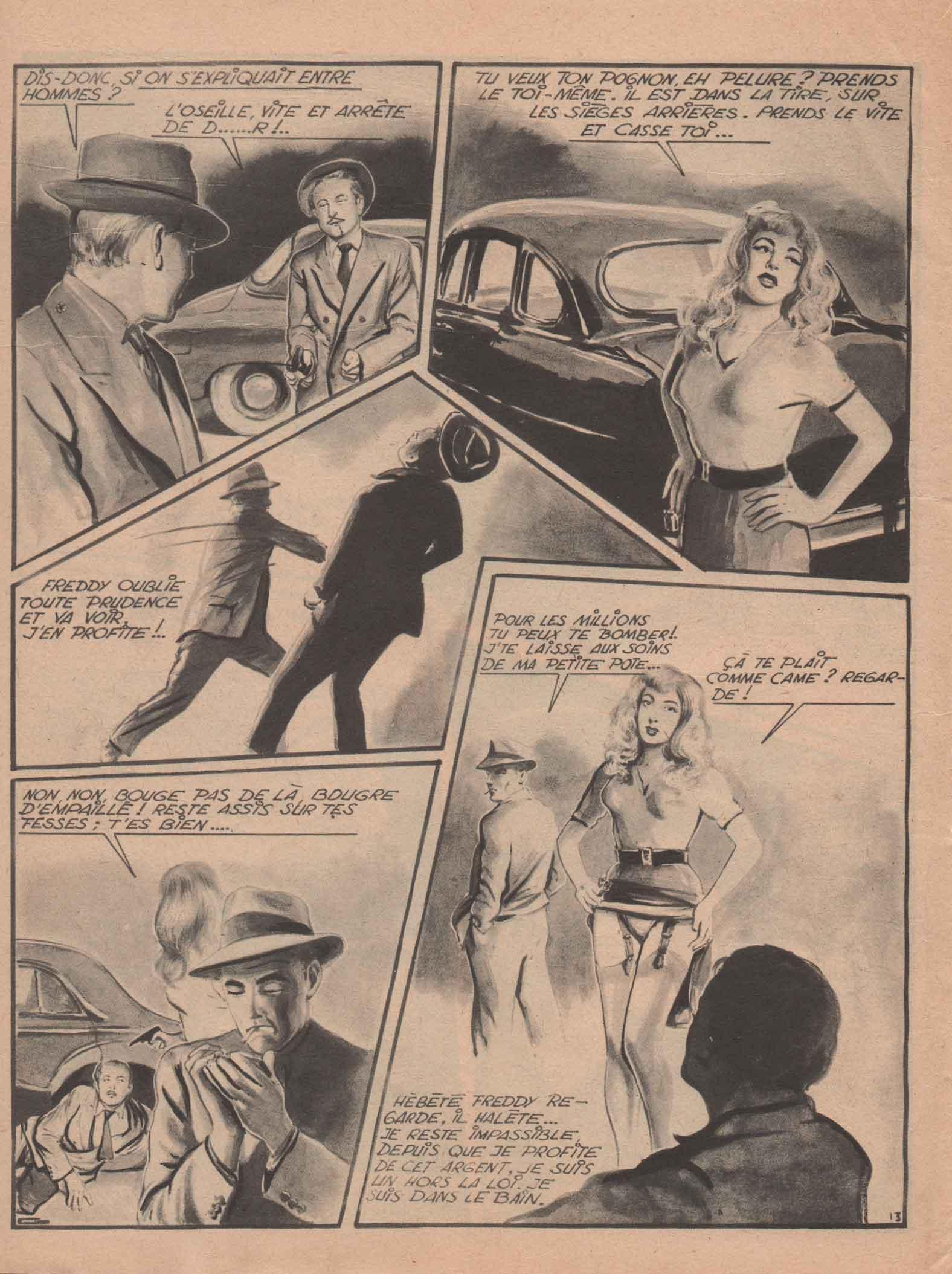 « Blankie joue et gagne » C'est un grand roman noir dessiné (2° trimestre 1953).