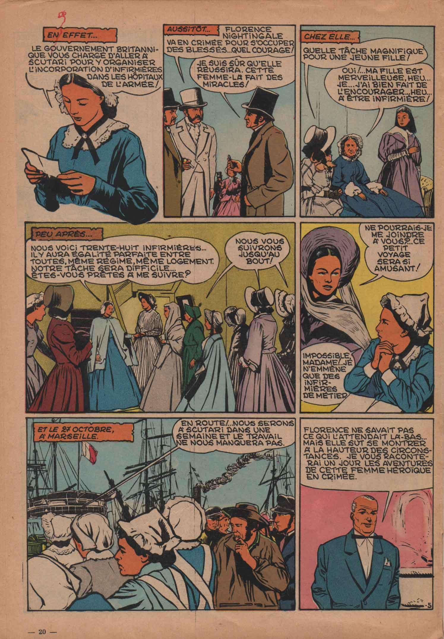 « Florence Nightingale » Spirou n° 903 (04/08/1955).