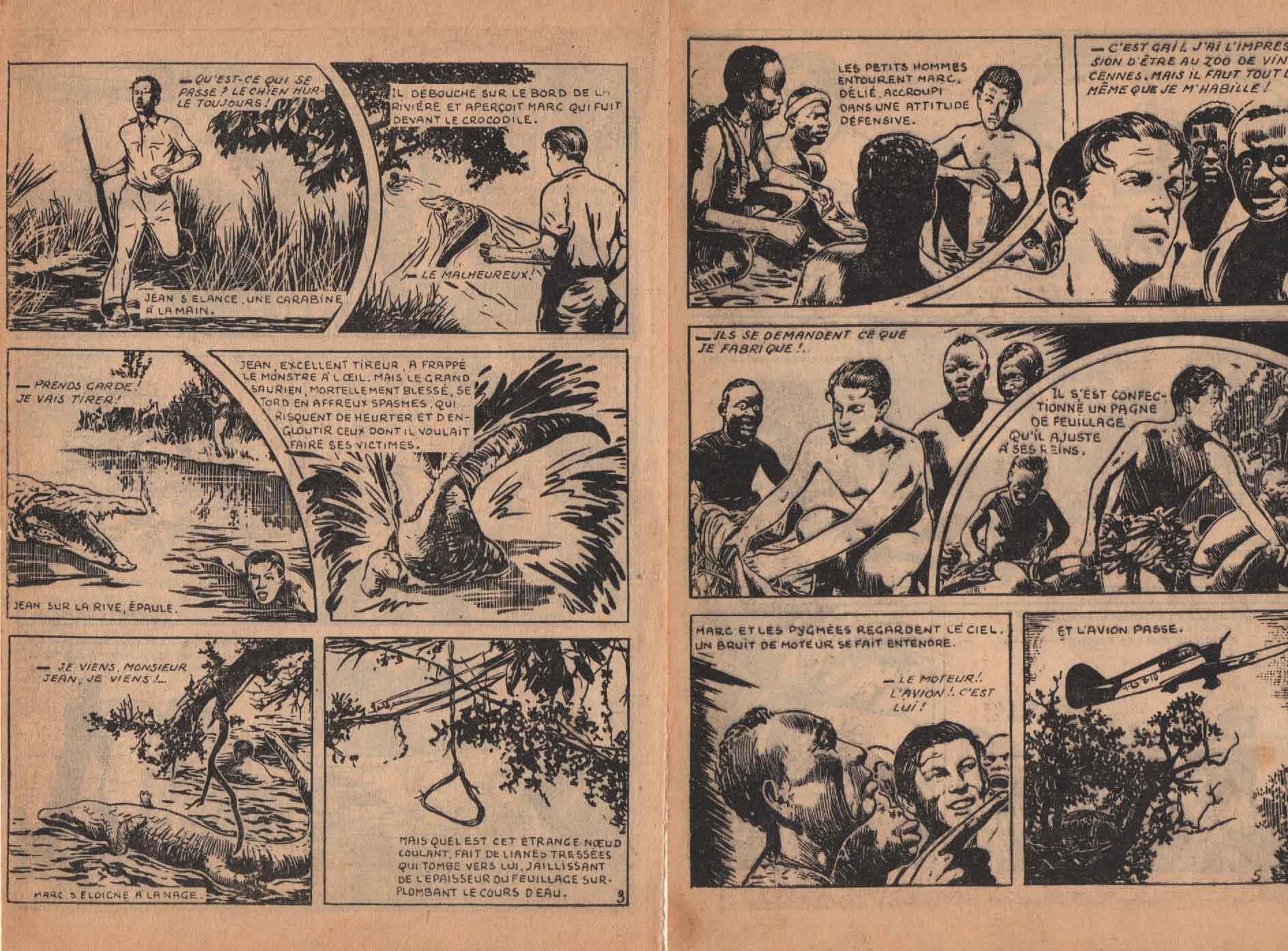 « Prisonniers des pygmées » À Travers le monde n° 6 (12/1956).