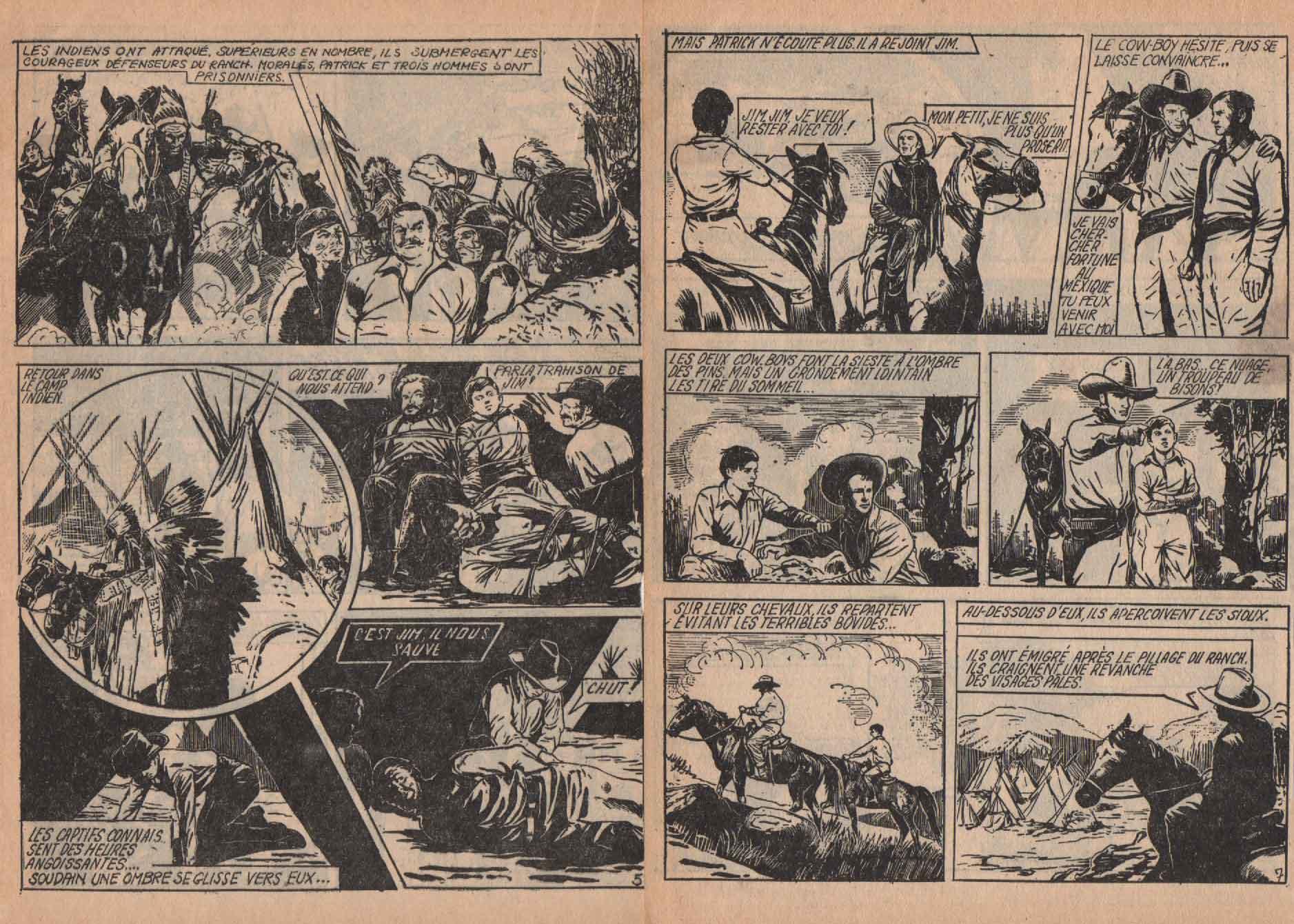 « Le Ranch des mystères » Sonic n° 4 (10/1961).