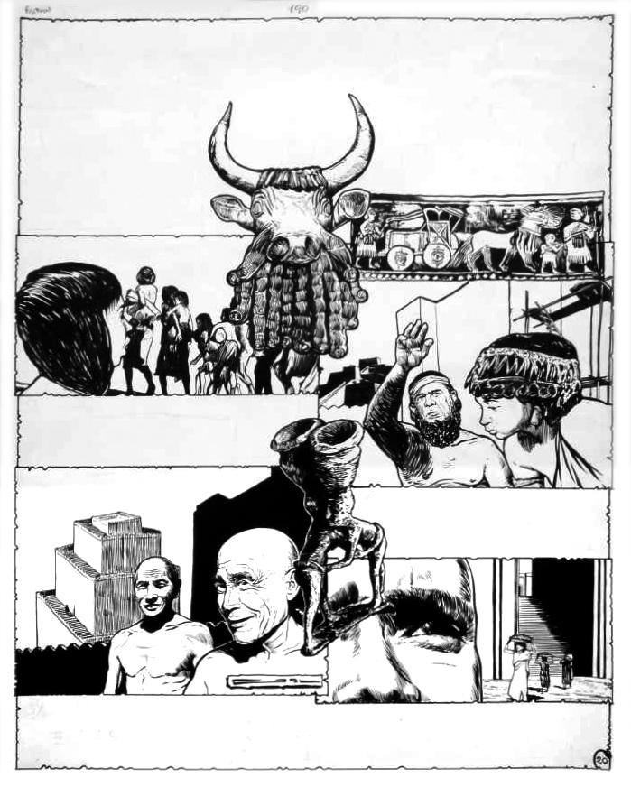 Une autre planche originale de Gal pour « Les Grandes Civilisations » dans Pistolin (n° 20 du 01/09/1957) : page fournie par Jean-Yves Brouard.