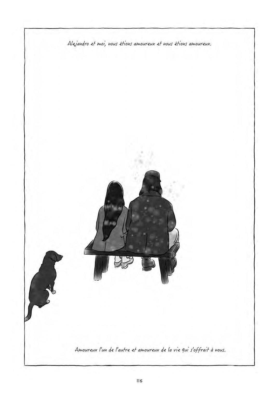 """Un amour aveugle pour la liberté (extraits du """"Temps des humbles"""", pages 115 - 116, Steinkis 2020))"""