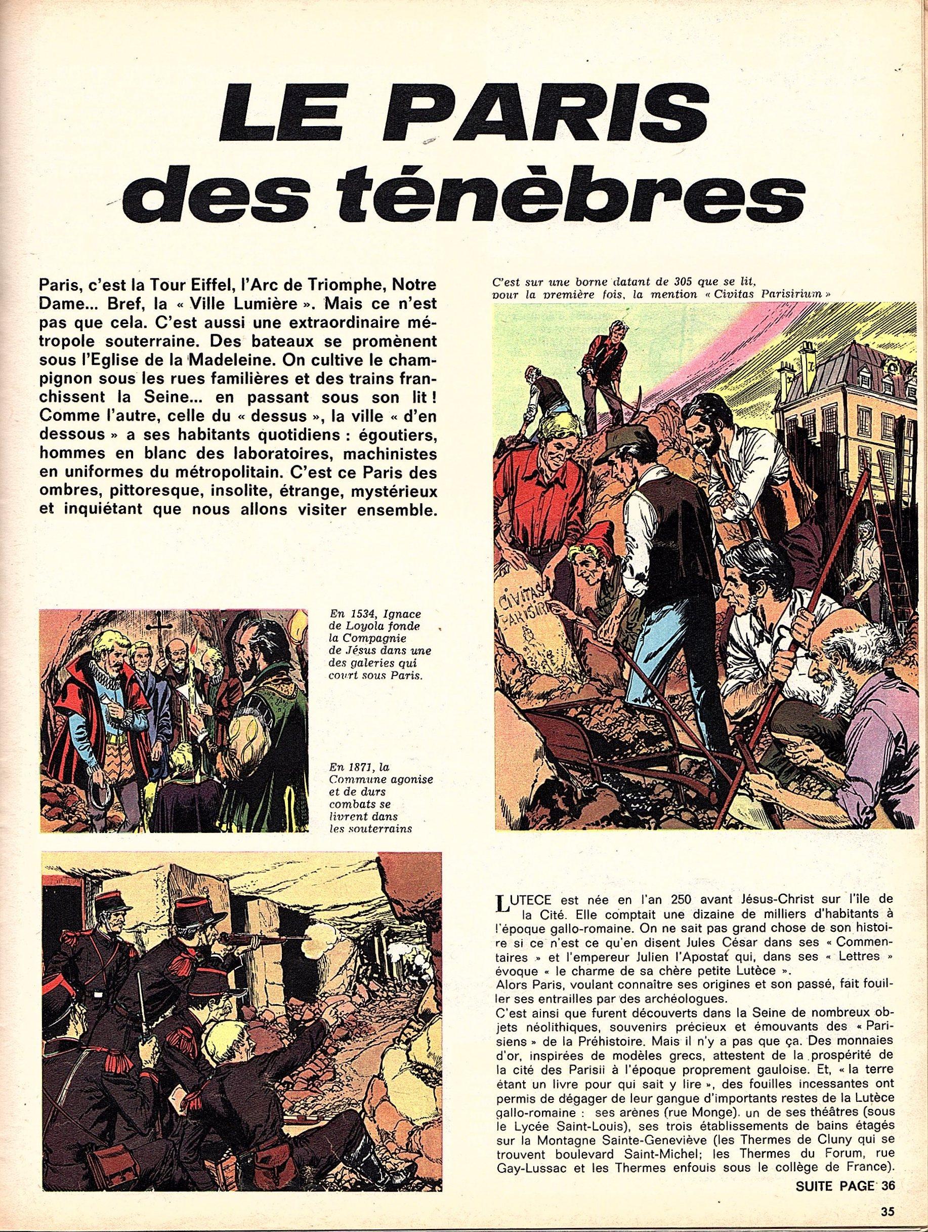 « Paris des ténèbres » Pilote n° 472 (21/11/1968).