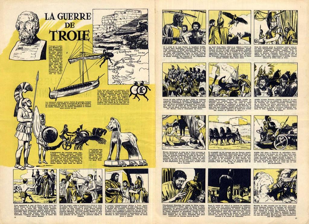 « La Guerre de Troie » - scénario non signé de Jean-Michel Charlier - Pilote n° 2 (05/11/1959).
