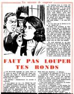 Nouvelle illustrée par Gal dans Paris Flirt n° 111 (14/03/1959) : page fournie par Jean-Yves Brouard.