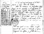 Première page de l'acte de naissance de Langlais, fourni par Bernard Joubert et Jean-Yves Brouard. On y comprend que son prénom était Alfred, mais qu'il devait préférer utiliser le second : Georges. Né le 5 janvier 1915 à Larache, au Maroc, il s'est marié en 1940 avec Amélie Fricot, dont il a divorcé en 1969, avant de se remarier l'année suivante avec Annie Bozellec. Détail à remarquer : ce second mariage a eu lieu à Bogota, en Colombie. S'il s'est expatrié quinquagénaire, cela expliquerait sa disparition du monde de la BD au-delà des années 1960.