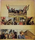 Une autre planche originale de Gal pour « Les Grandes Civilisations » dans Pistolin (1957).