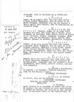 Première page du jugement du 30 juin 1955 expliquant que, selon ce document d'époque fourni par Bernard Joubert et Frank Evrard, que Gal a été condamné pour ses bandes dessinées publiés dans la collection C'est un grand roman noir dessiné : problème, pour la justice, il se prénommait Alfred, pas Georges. Un mystère à résoudre !