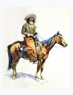 Illustration de Frederic Remington : « Arizona Cowboy » (1901)
