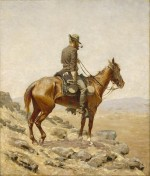 Peinture de Frederic Remington : « The Lookout » (1887)
