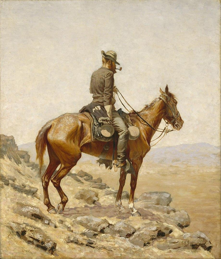 Peinture de Frederic Remington : « The Lookout » (1887)