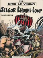 Couverture de «Selgor l'homme-loup» (album Michel Deligne n° 3, 1979) par Jacques Géron.