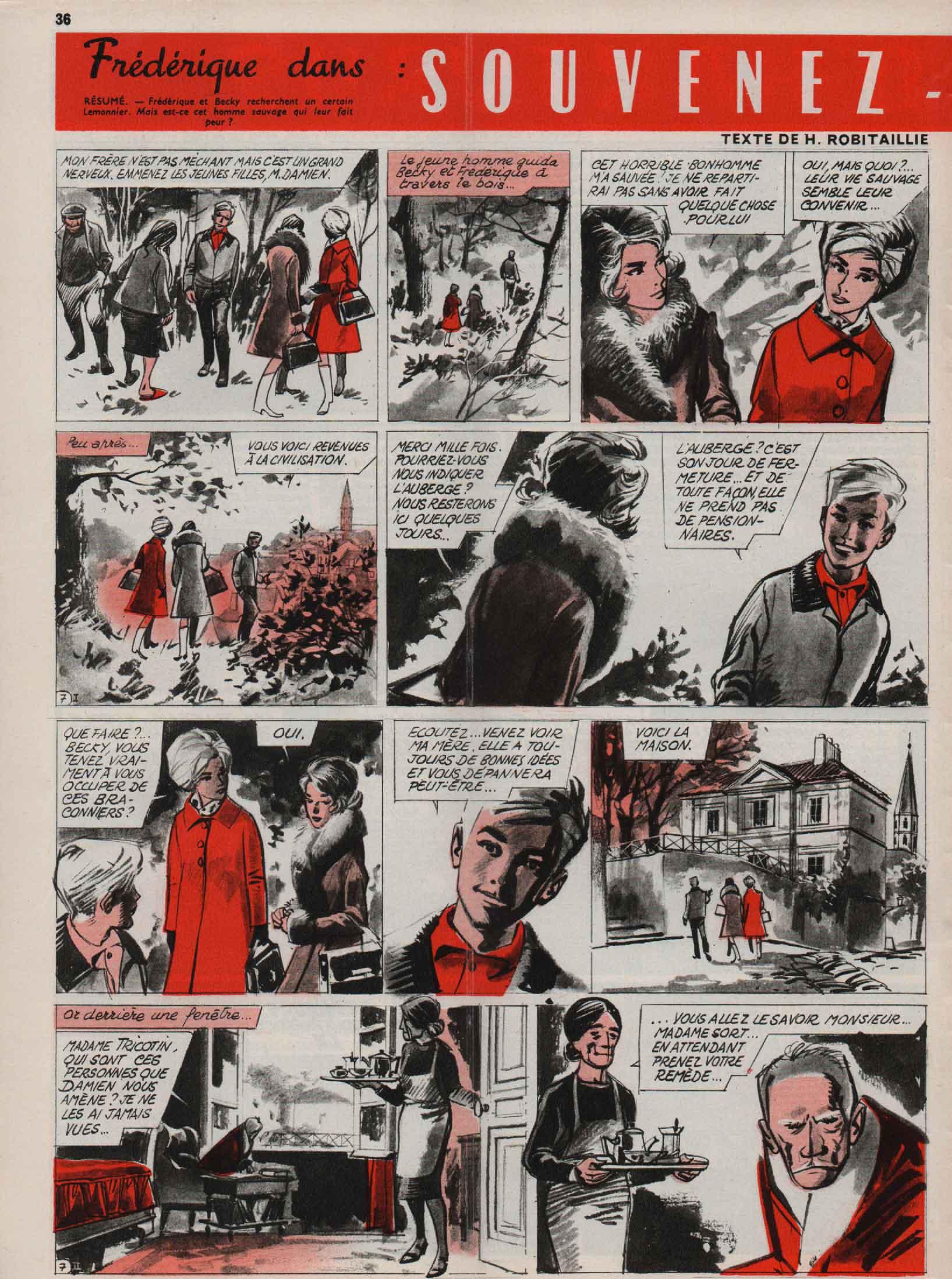 « Frédérique » J2 magazine n° 1 (06/01/1966).