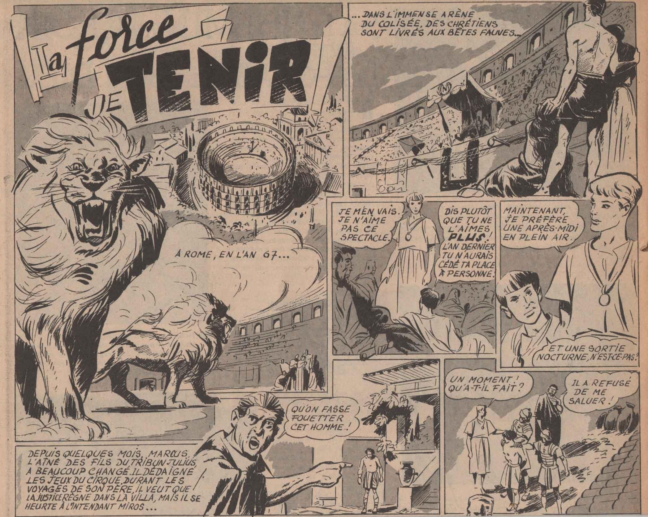 « La Force de tenir » Coeurs vaillants n° 15 (11/04/1954).