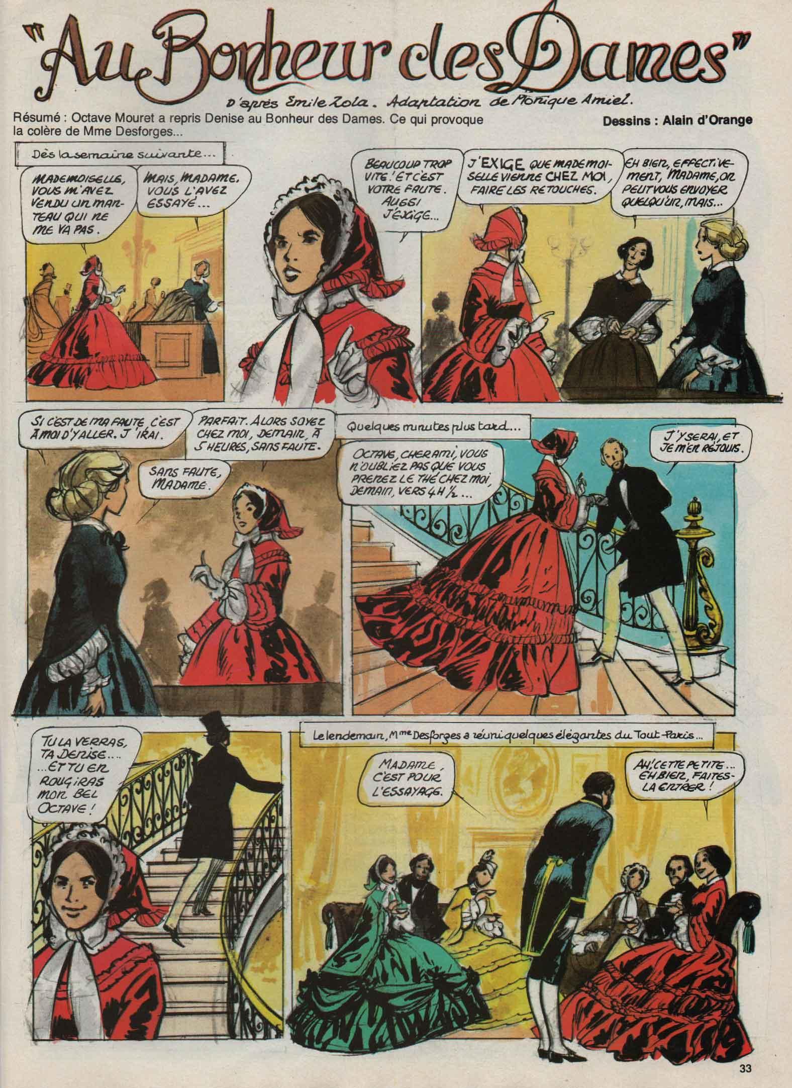 «  Au Bonheur des dames » Djin n° 34 (26/08/1981).