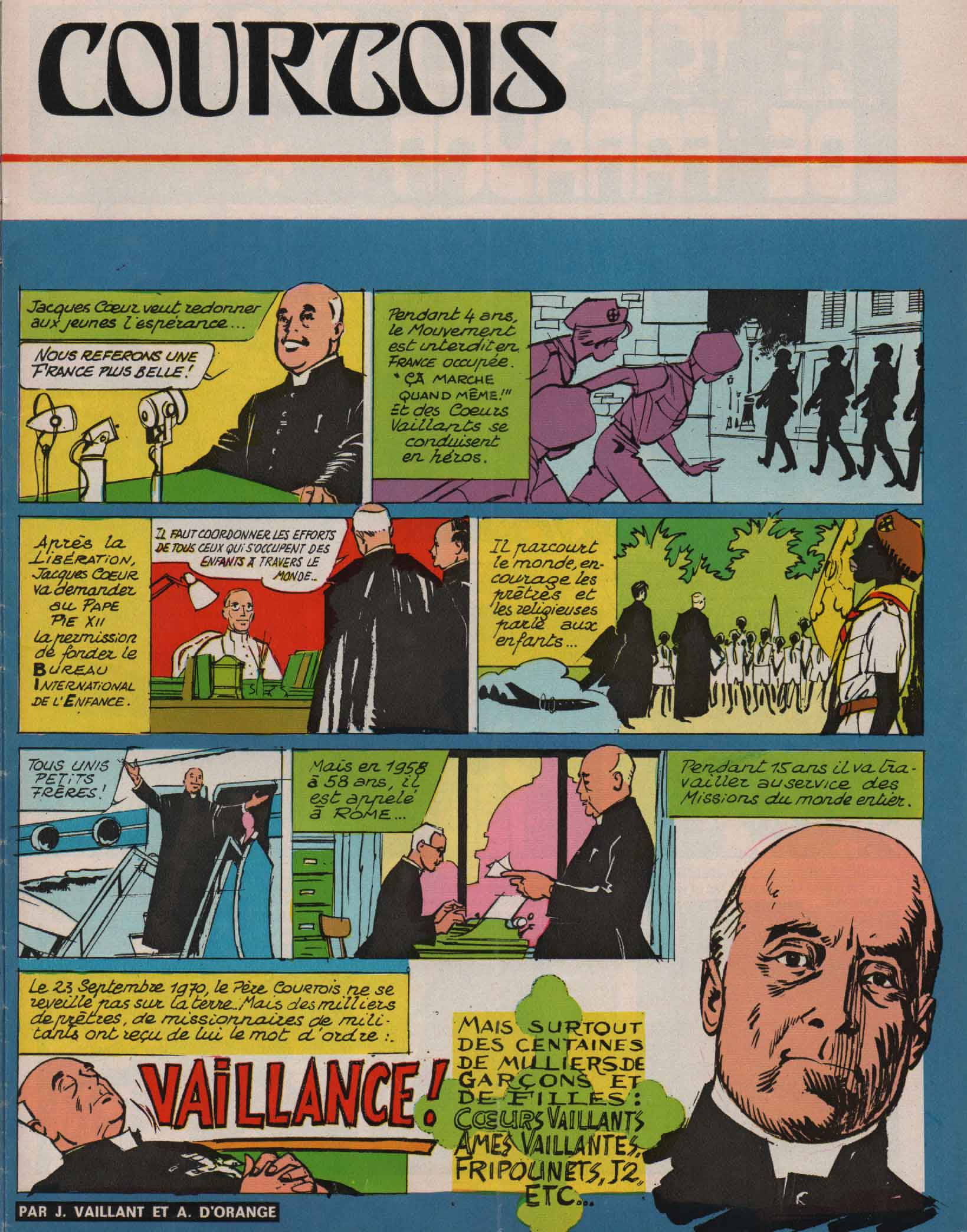 « Gaston Courtois » Fripounet n° 20 (18/05/1972).