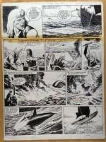 Une planche originale de «La Mission périlleuse».