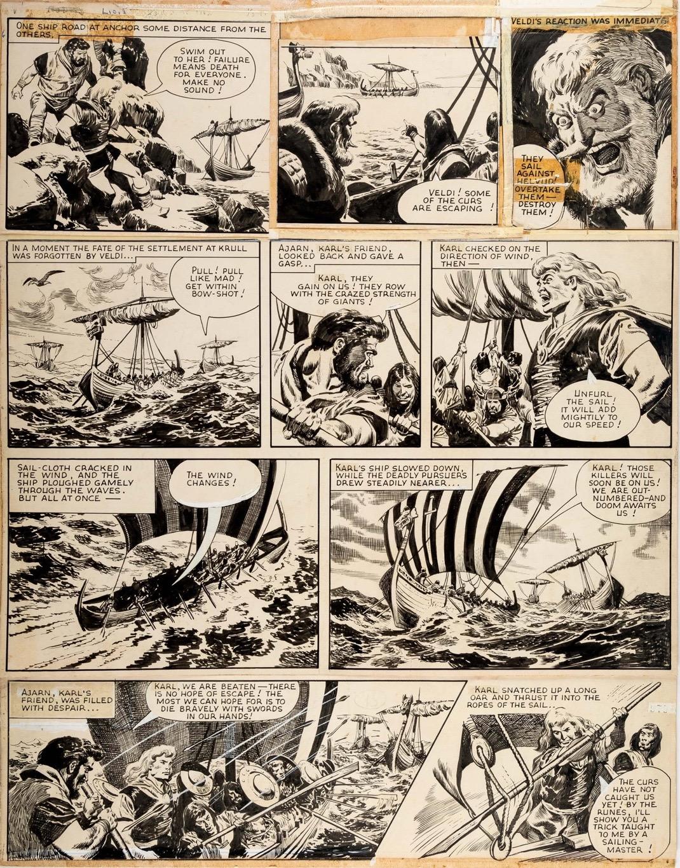 Planche originale de «La Main du diable».