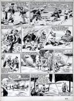 Planche originale de «La Forteresse de la mort».