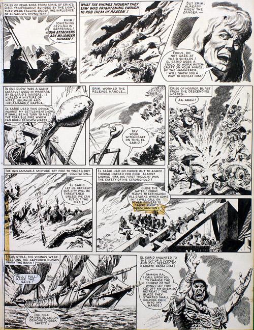Une page originale de «El Sarid le sanguinaire».