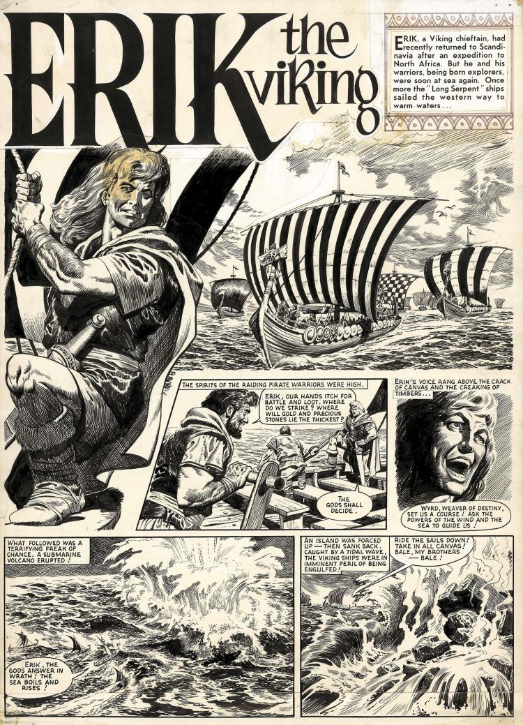 Une autre belle page originale de «Cyclos, l'île aux monstres».