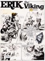 Une planche originale de «Moru, le sorcier du marais».