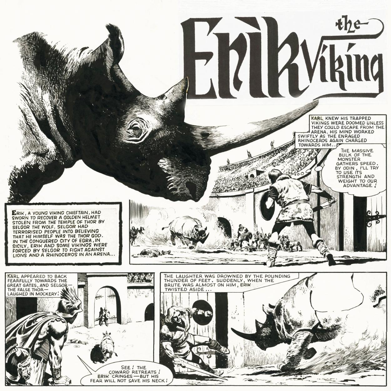 Planche originale de l'épisode «Le Casque de Thor ».