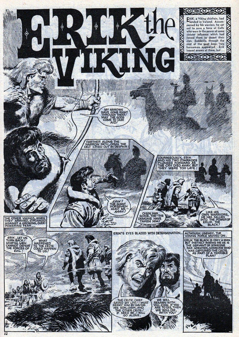 Une page de «Moru, le sorcier du marais» dans Lion.