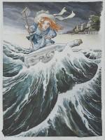 Dessin pour l'affiche du festival de BD de Perros-Guirec d'avril 1999.