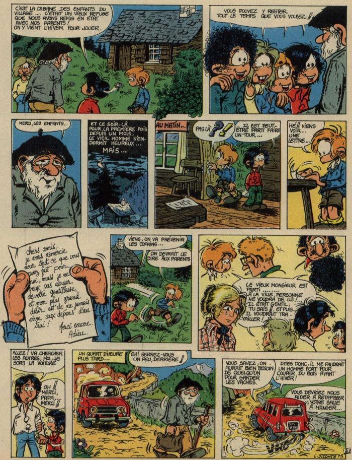 Première « Carte blanche » de Laurent Vicomte publié dans le n° 1938 de Spirou, en 1975.