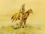 Peinture de Charles Marion Russell : « Cowboy on Horseback, Meditation ».