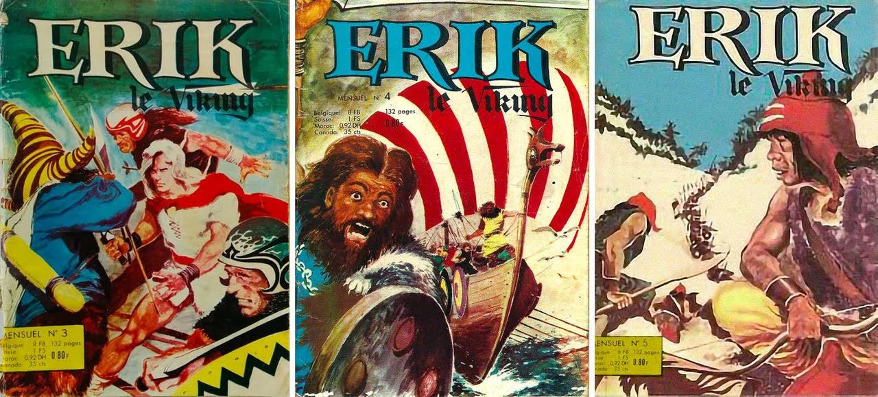 Couvertures des poches n° 3 à 5 de la SFPI contenant l'épisode «Les Portes d'Atlantis».