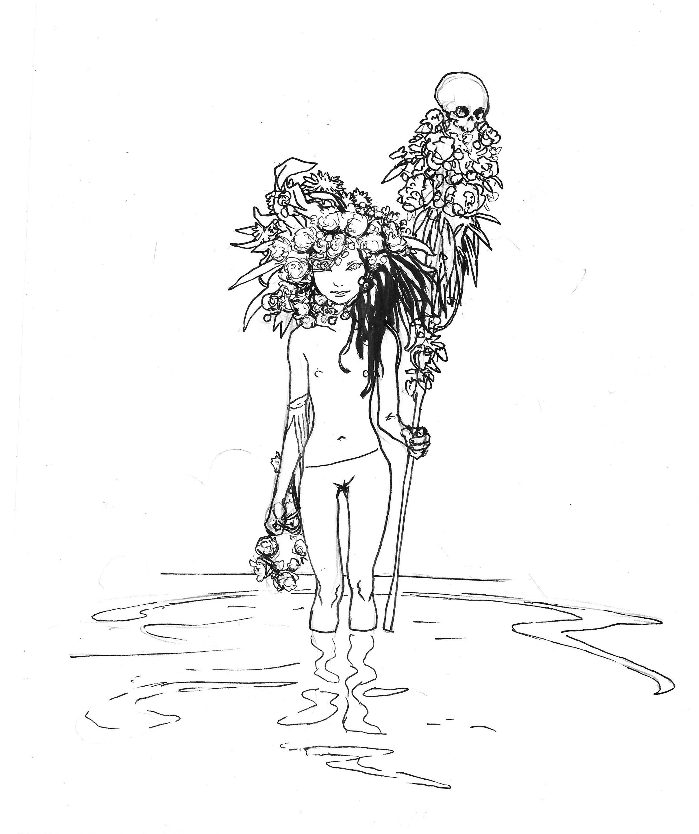 La Jeune fille du peuple de l'eau.