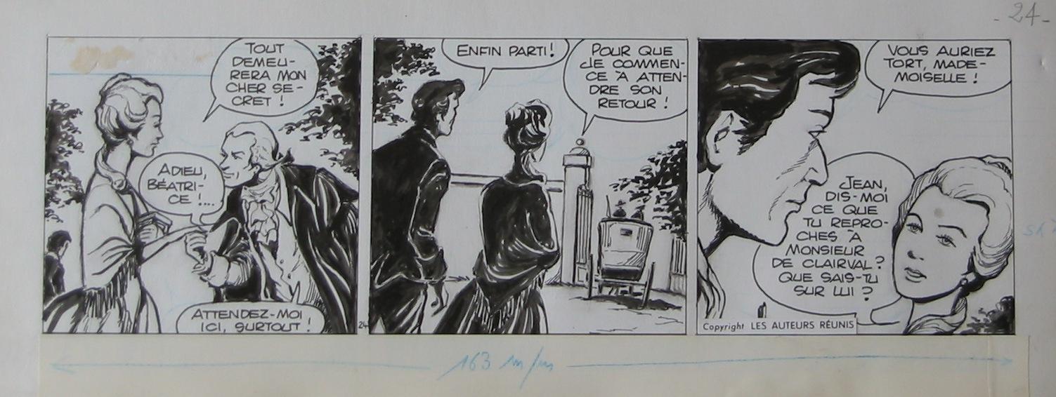 Strips originaux de « Béatrice ».